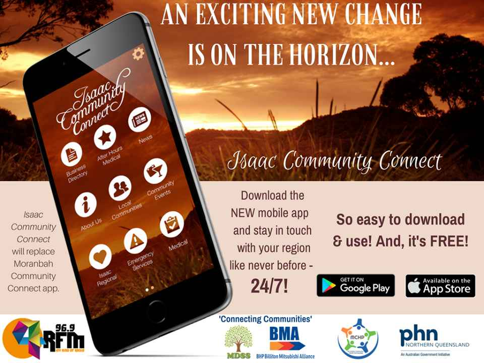 Isaac Community Connect mobile app