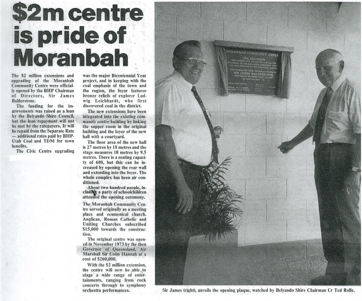 Moranbah Community Centre Upgrade